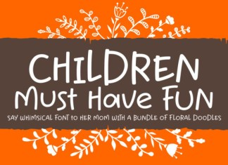 Children Must Have Fun Font
