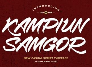 Kampiun Samgor Font