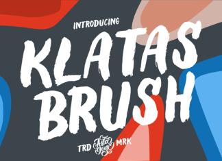 Klatas Brush Font
