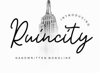 Ruincity Handwritten Monoline Font