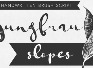 Jungfrau Slopes Modern Brush Font