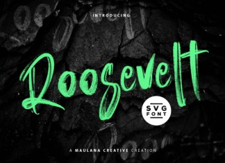 Roosevelt SVG Brush Font
