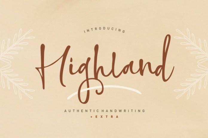 Highland Font
