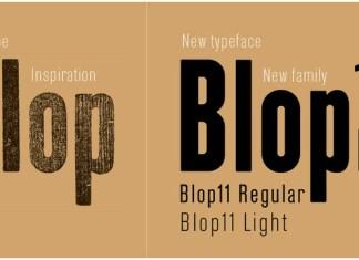 Blop11 Font