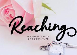 Reaching Font