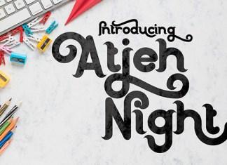 Atjeh Night Font