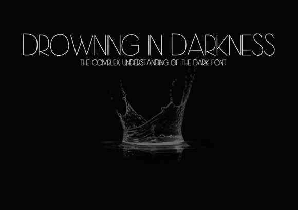 Drowning in Darkness Font