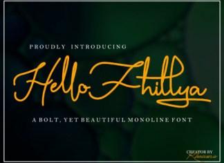 Hello Fhillya Font