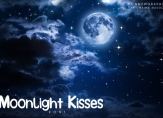 Moonlight Kisses Font