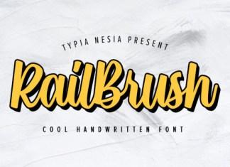 Rail Brush Font