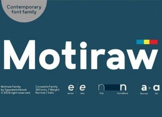 Motiraw Font