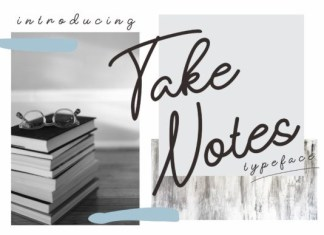 Take Notes Font