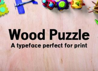 Wood Puzzle Font