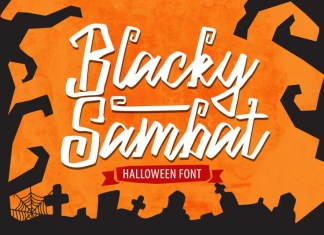 Blacky Sambat Halloween Font