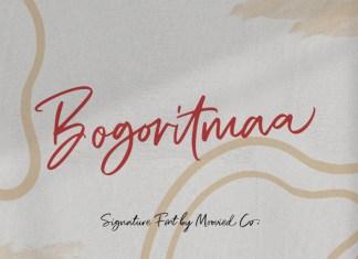 Bogoritmaa Signature font