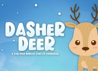 Dasher Deer Font