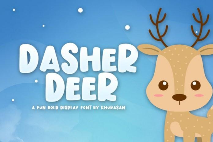 Dasher Deer Font