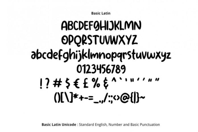 Hakuro Marker Font