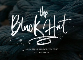 The Black Hat Font