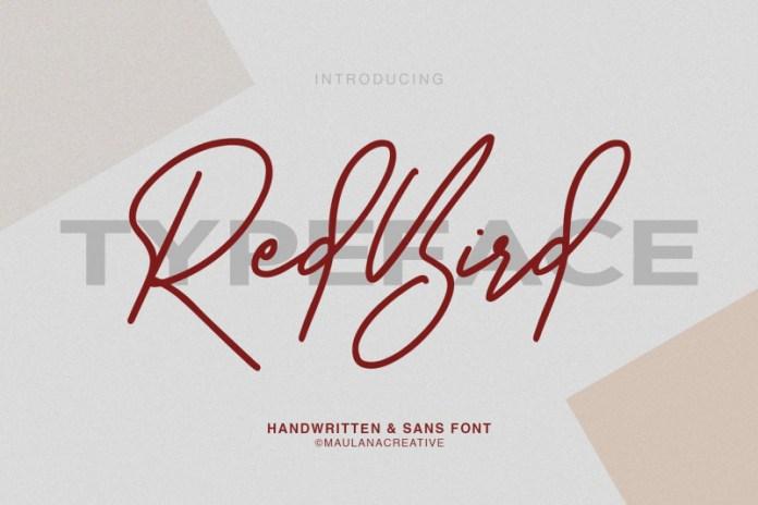 Redbird Signature Font