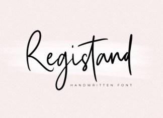Registand Font