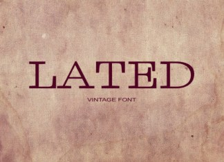 Lated Font