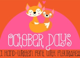 October Days Font