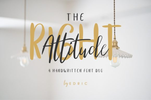 The Right Attitude Duo Font