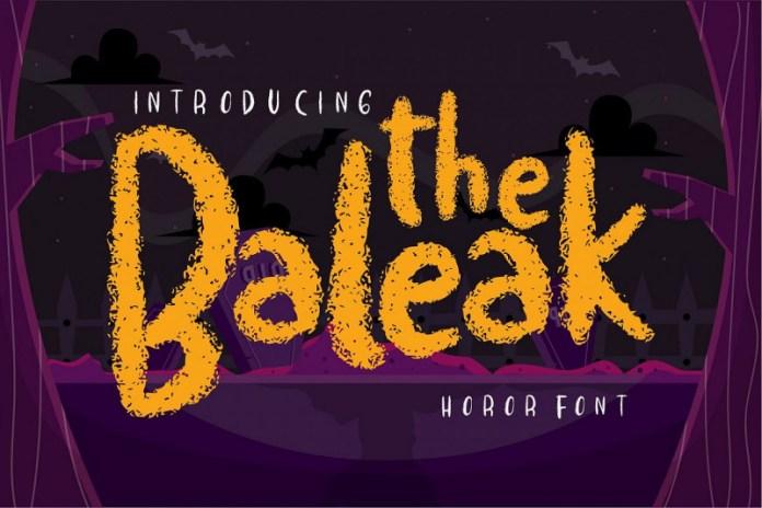 The baleak Font