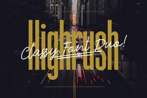 Highrush Duo Font