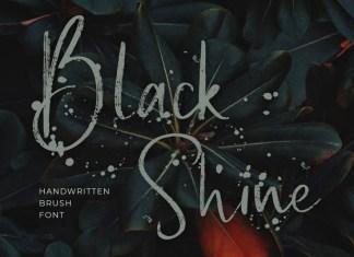 Black Shine Font