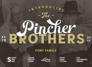 The Pincher Brothers Font