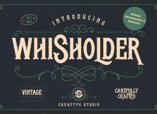 Whisholder Vintage Font