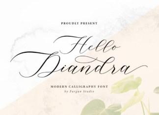Hello Diandra Font