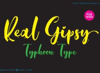 Real Gipsy Font