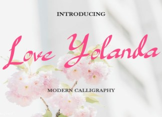Love Yolanda Font