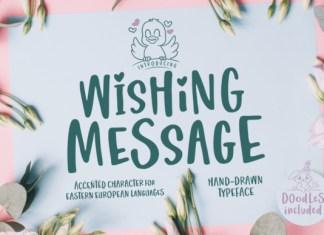 Wishing Message Font