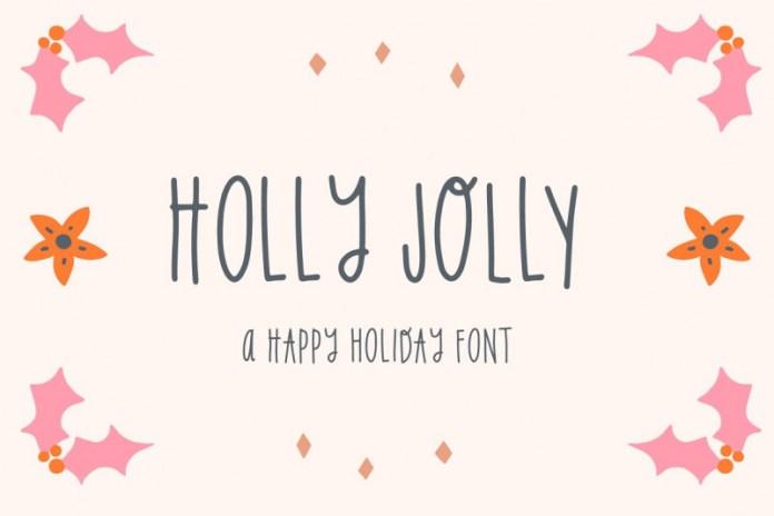 Holly Jolly Holiday Font