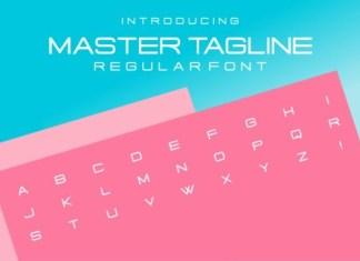 Master Tagline Font