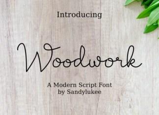 Woodwork Font