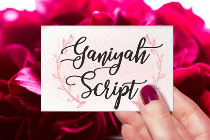 Ganiyah Font