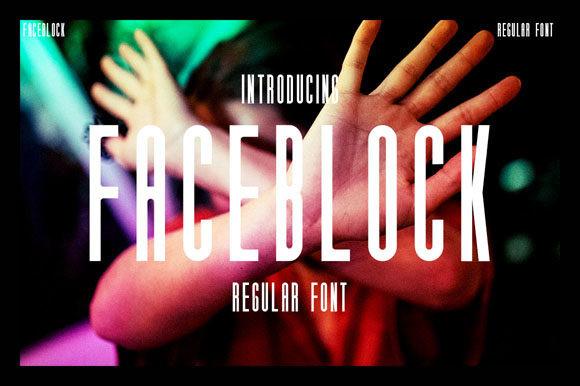 Faceblock Font