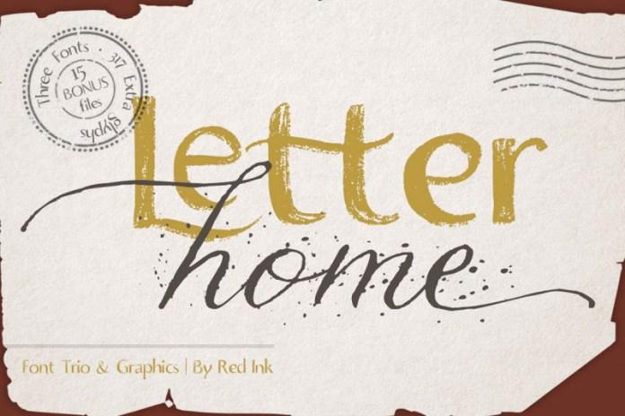 Letter Home Font