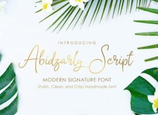 Abidzarly Font