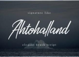 Ahtohalland Font
