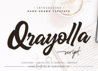 Qrayolla Font