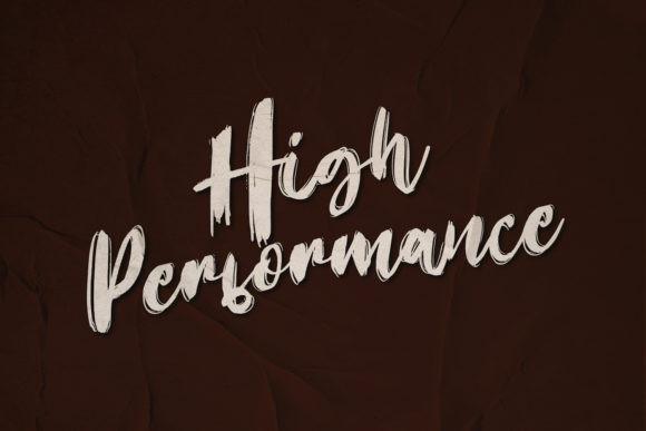 High Performance Font
