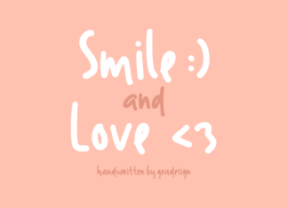 Smile and Love Font