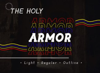 The Holy Armor Font