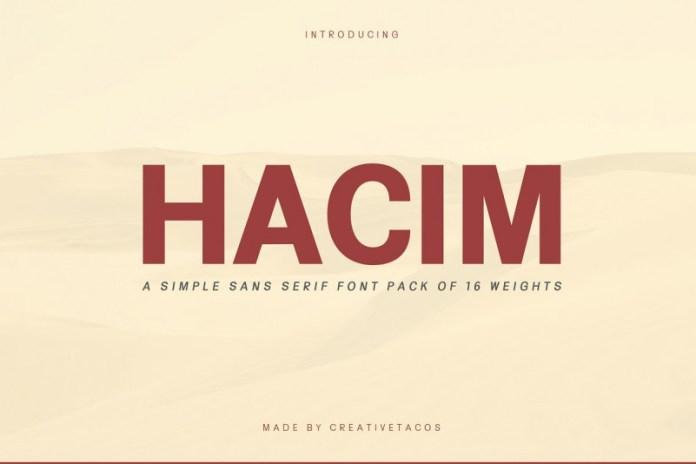 Hacim Simple Font